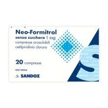 Neoformitrol 20 Compresse Orosolubili Senza Zucchero 032250021 Farmaci per mal di gola