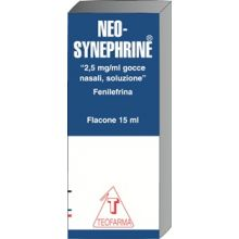 Neosynephrine Gocce 15 ml 2,5 mg/ml 006769020 Farmaci Per Naso Chiuso E Naso Che Cola