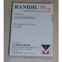 RANIDIL 75*10CPR RIV 75MG Antiacidi