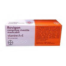 Rovigon 30 Compresse Rivestite Masticabili 012812018 Tonici, vitaminici e sali minerali
