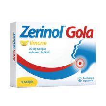 Zerinol Gola Limone 18 Pastiglie 20 mg 041239195  Farmaci per mal di gola