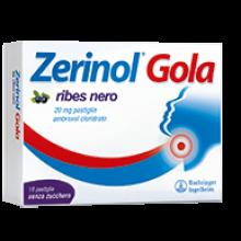 Zerinol Gola Ribes 18 Pastiglie 20 mg 036089136 Farmaci per mal di gola