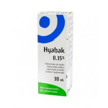 Hyabak 0.15% Soluzione Oftalmica 10 ml Lacrime artificiali