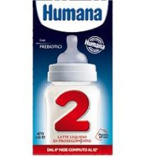 Humana 2 Latte Liquido Di Proseguimento GOS Slim 470 ml Latte per bambini