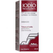 Iodio New Fa.Dem. Soluzione alcolica 20ml 7%/5% Disinfettanti per la cute