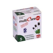 Multicare In Colesterolo 5 Strisce Misuratori di colesterolo e trigliceridi