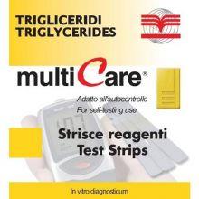 Multicare Trigliceridi 5 Strisce Misuratori di colesterolo e trigliceridi