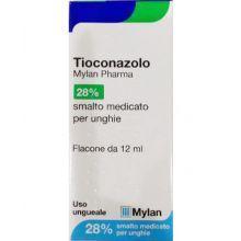 Tioconazolo Mylan Smalto medicato 12ml Lozioni e polveri per la pelle