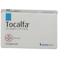 Tocalfa 20 Capsule molli 50000UI+50mg Tonici, vitaminici e sali minerali