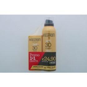 Angstrom Protect Bipacco Spray Corpo SPF30 150ml + Crema Viso SPF30 50ml Creme solari viso